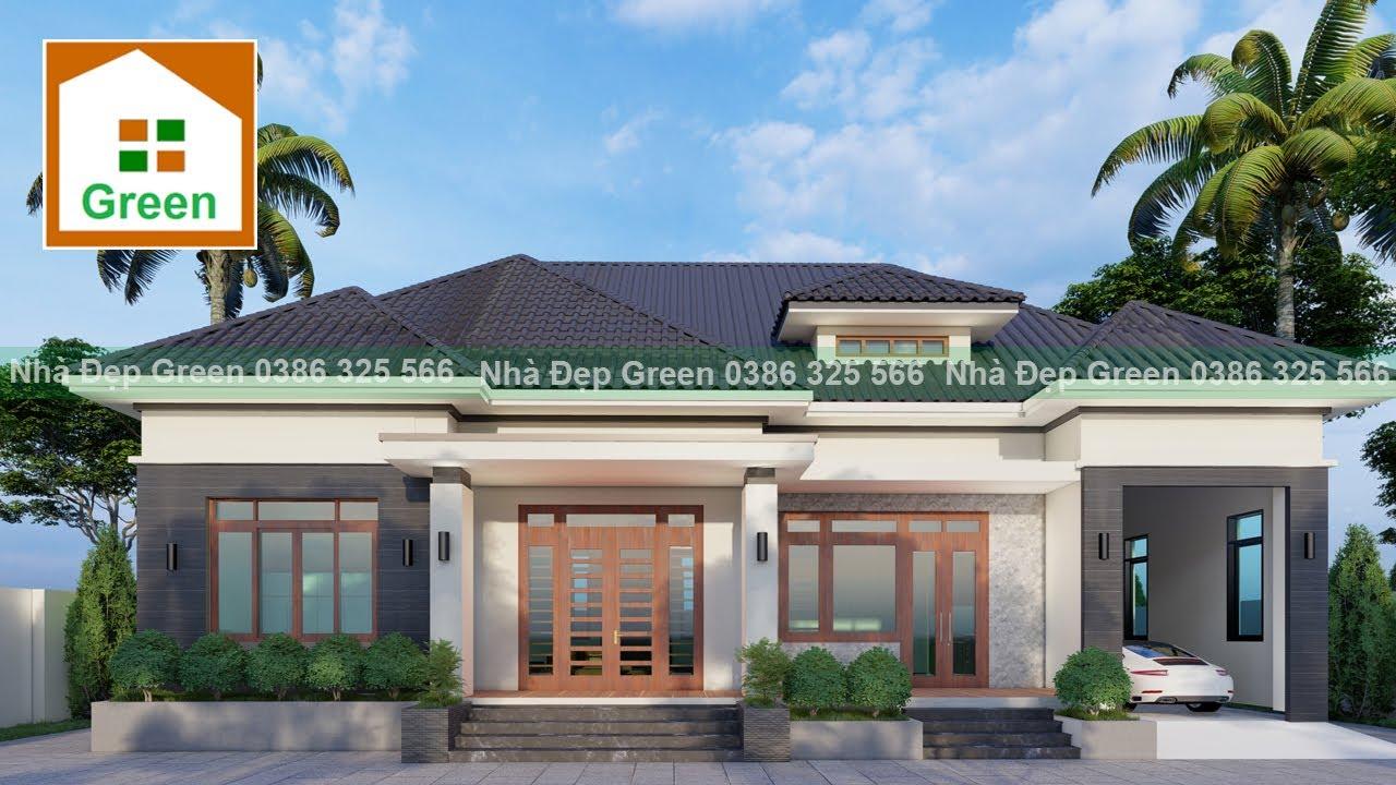 Nhà Đẹp Green | Mẫu Nhà Vườn Đẹp 18 m x 11,5 m Có 3 Phòng Ngủ Đủ Công Năng Tại Phú Thọ