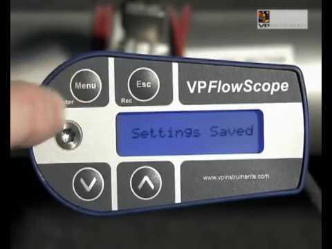 VPFlow Scope compressed air flow meter.