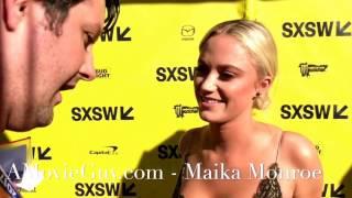 maika monroe  red carpet interview  hot summer nights