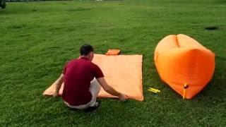 Homfu inflatable lounger air sleeping bag