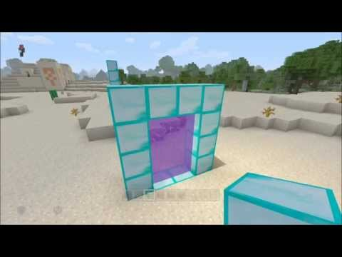 Minecraft XB1/360 + PS4/PS3 How To Make Any Block Portal Glitch