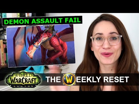 Legion Assault & Mage Tower Double Shtshow! Fly Right Now! The Weekly Reset Wow Legion News