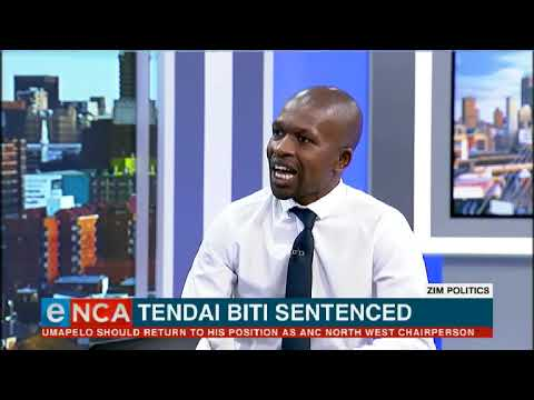 Zim Politics   Tendai Biti sentenced