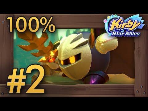 Kirby Star Allies (4 Players) 100% Co-Op Walkthrough Part 2 | World 2 - Planet Popstar