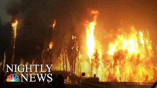 Entire Canadian City of 88,000 Forced to Flee From Wildfire   NBC Nightly News