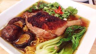 Braised Duck With Egg Noodle Soup - Mì Vịt Tiềm