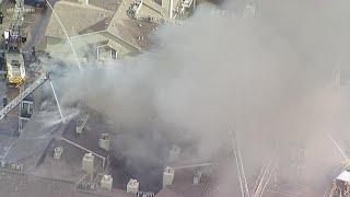 Firefighters battle 3-alarm apartment fire in Dallas