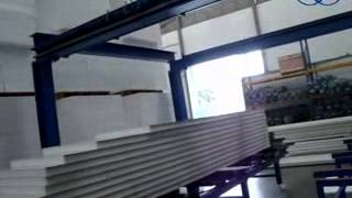 Mineral Wool sandwich panel production line, cutting, palletizing, packaging technology