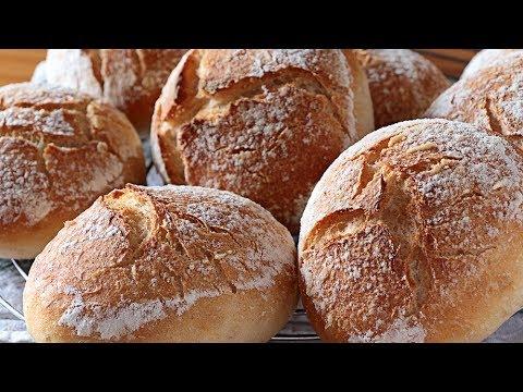 Pan bollitos blancos para bocadillos del cole ¡Sin azúcar! - SUB🇬🇧 White bread rolls