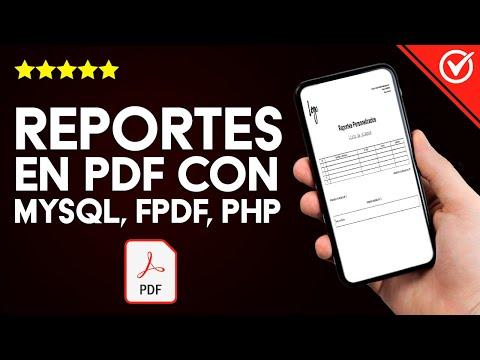 Cómo Crear, Diseñar y Generar Reportes en PDF con MySQL, FPDF, PHP
