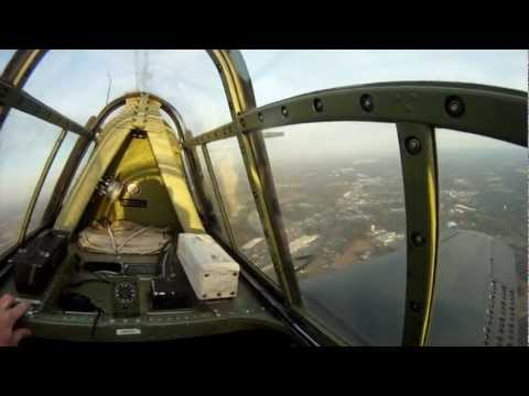 Douglas SBD Dauntless flight - multiple camera angles