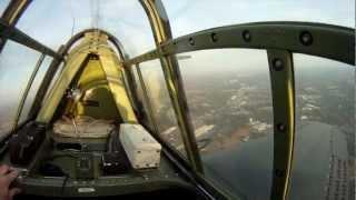 Douglas SBD Dauntless flight - multiple camera angles