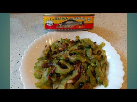 Stir Fry Bitter Melon With Sardine Chinese Recipe