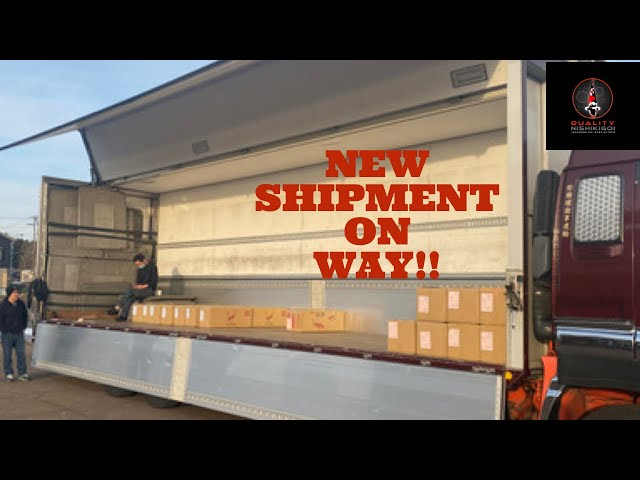 New Shipment on its way from Japan!