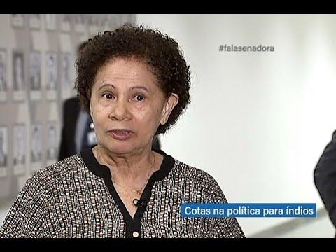 #falasenador: Regina Souza defende cotas para inserção de índios na politica