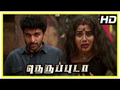 Neruppu Da Movie Climax Scene   Vikram and friends become firemen   Nikki Galrani   End Credits