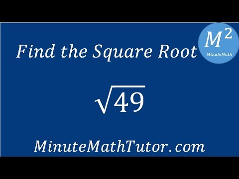 Find The Square Root 49 Youtube
