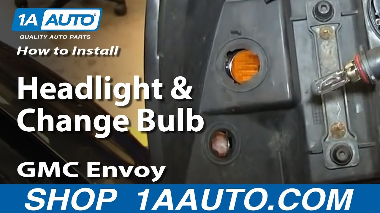 how to replace headlight 02 06 gmc envoy xl [ 1280 x 720 Pixel ]