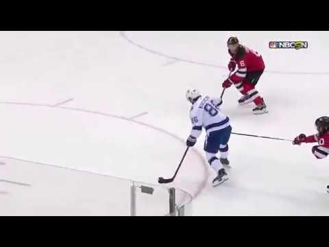 Nikita Kucherov amazing goal vs Devils from Stamkos dish (2017)