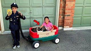 Heidi perdeu o gatinho e polícia tentou ajudá-la