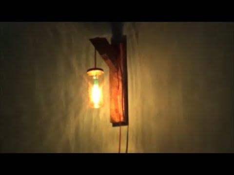 Cara Membuat Lampu Dinding Dari Wadah Kaca bekas