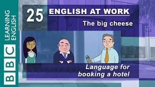 Booking a hotel room – 25 – English at work reserves your room