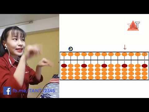 Tự học cách tính nhẩm nhanh của người Nhật – bàn tính gẩy Soroban Bài 2 – Học Toán Tiếng Anh TANT