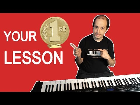 Your First Lesson on the Piano - Easy Piano Lessons for Beginners