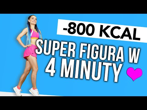 TABATA 🔥 TRENING ODCHUDZAJĄCY -800 KCAL 🔥 SUPER FIGURA W 4 MINUTY 🔥