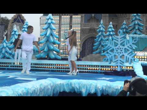 Ariana Grande practicing run through of her Disney World Christmas Day performance here in Orlando.