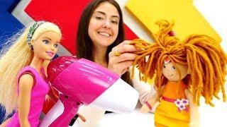 Видео для детей: Веселая школа! Парикмахерская куклы Барби