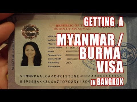 How to Get a Myanmar Visa in Bangkok, Thailand