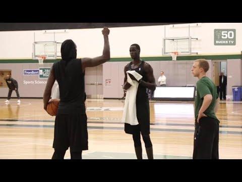Thon Maker Trains With NBA Legend Kevin Garnett
