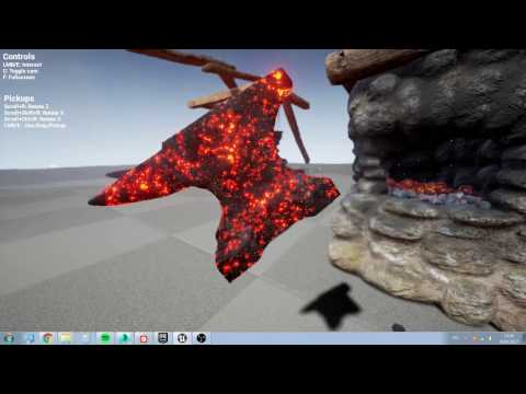 UE4 Interactive Forge Dev #4 Dynamic metal material substance + particles