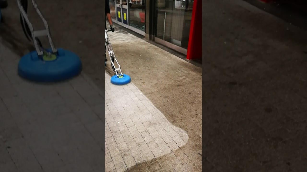 Turboforce Hybrid Cleaning KFC Entrance Clean Tile And Grout UK - Turbo hybrid floor cleaner rental