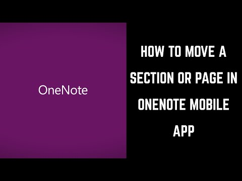How to Move a Section or Page in Microsoft OneNote Mobile App