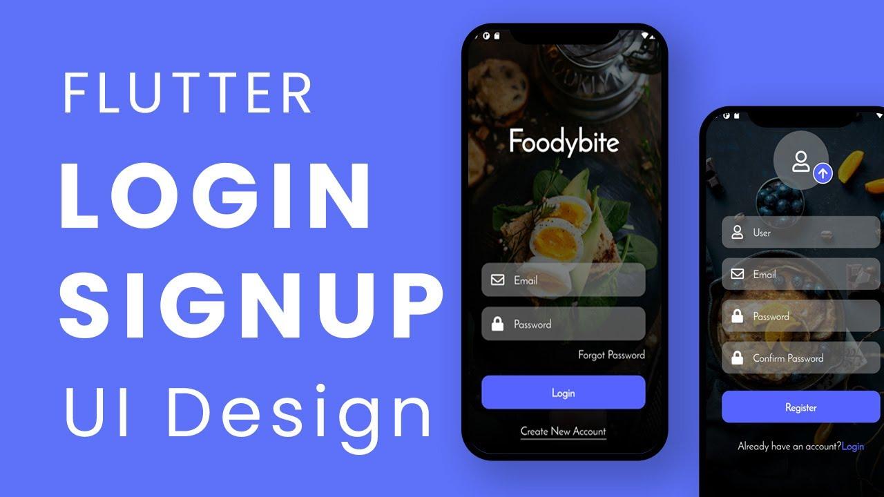 Flutter Login and registration UI Design   Tutorial