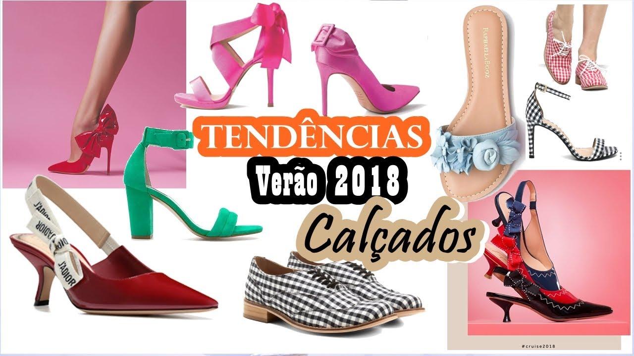 7e7651e5d TENDÊNCIA Calçados VERÃO 2018 - YouTube