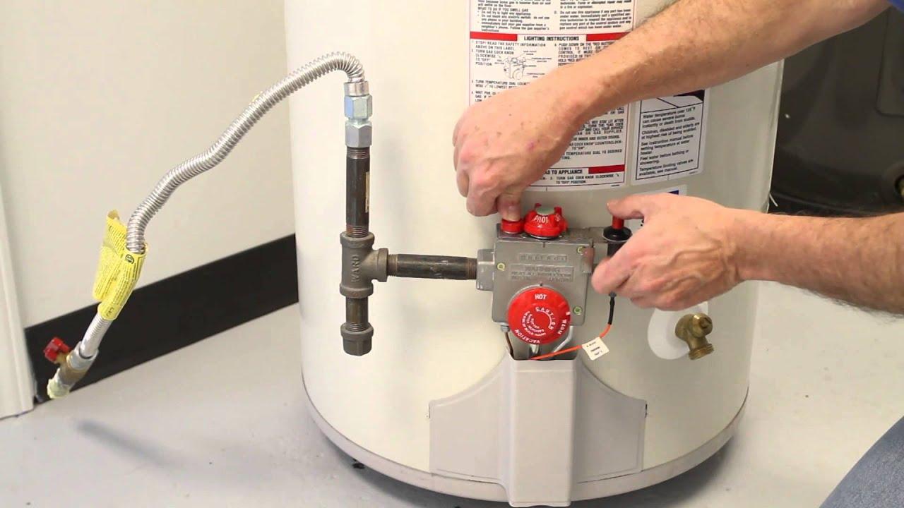 Hot Water Heater Problems >> How To Reset Gas Water Tank Pilot Light