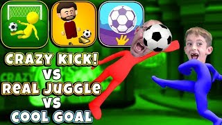 Crazy Kick vs Cool Goal vs The Real Juggle Gameplay and Review