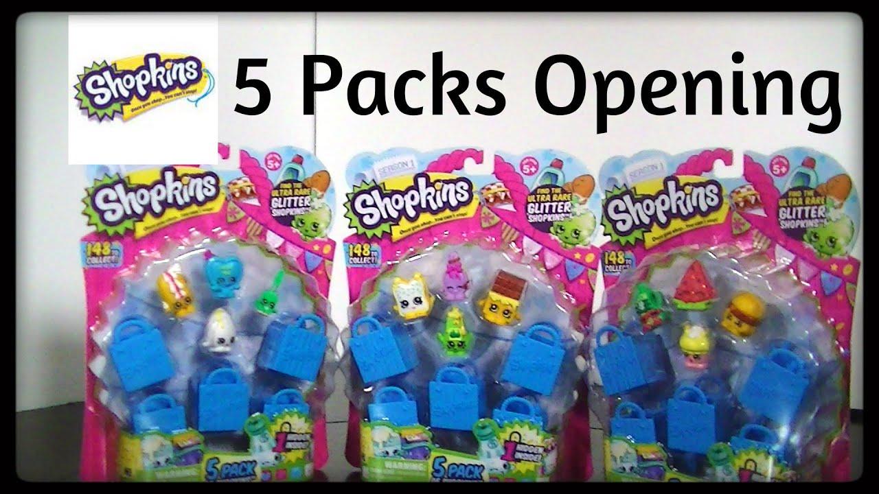 Shopkins 5 Packs Openings   YouTube
