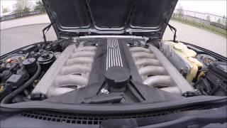 BMW E34 V12 driving,sound check,top speed,walkaround,head cam CLEAR SOUND headphones needed
