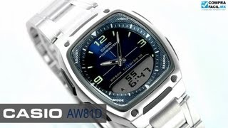 reloj casio aw81d metal www comprafacil mx