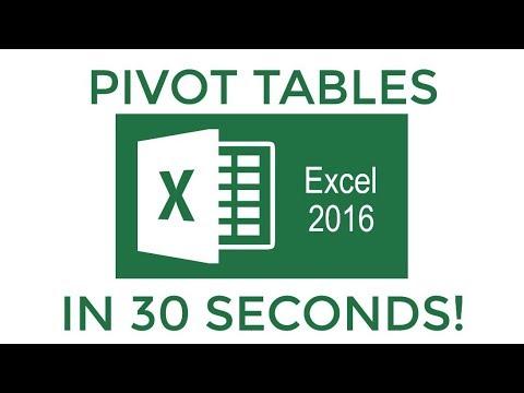 Excel 2016 Pivot Tables Dalam 30 Detik!