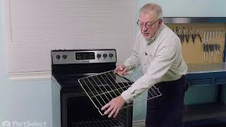 frigidaire oven repair how to replace the oven rack frigidaire 316496201