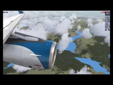 Rovaniemi Airport - Finland to Bergen Airport - Norwegian (FSX)