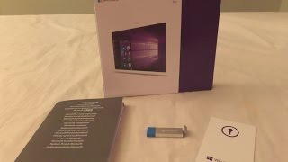 Unboxing of Microsoft Windows 10 Professional Retail with USB Install Stick