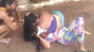 Black Brazilian Chicks Get Into a Hair Pulling Bitch Fight