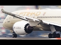 BOEING 787 and AIRBUS 350 Departure - Direct Comparison in 4K