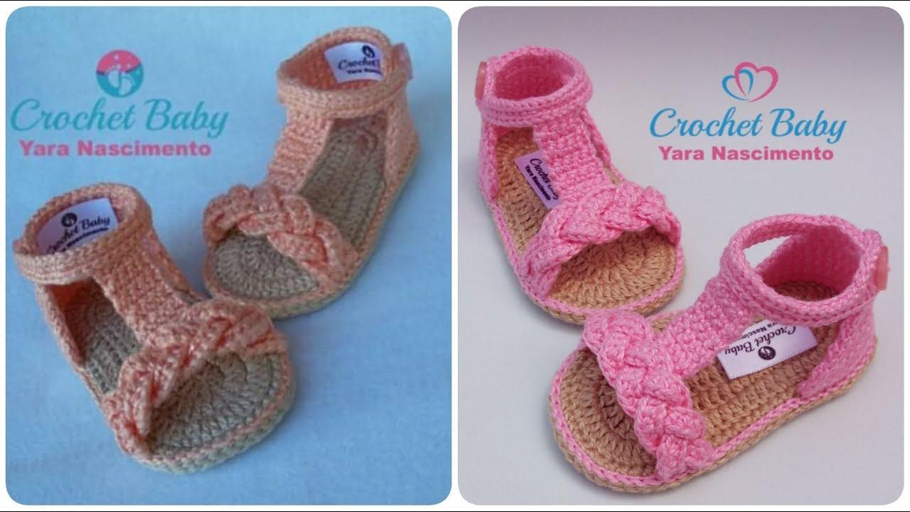 Crochê Tamanho Cm Baby Sandálinha Duda Crochet 09 Nascimento De Yara Pn0w8kO